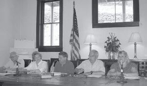 Pictured from left are Whitesburg City Council members Jimmy Bates, Robin Watko, John Williams, Mayor James Wiley Craft, and council member Freda McFall.