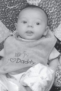 TWO MONTHS OLD -  David Andrew Hensley was born March 11 to David and Valerie Hensley of Harriman, Tenn. He is the grandson of Mr. and Mrs. Bobby Bates of Whitesburg.