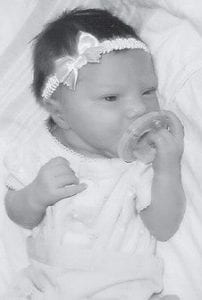 APRIL BIRTH -  Jaydence Rebecca Ann Lee Lynn Rogers was born April 29 to Megan Slone and Keith Rogers of Woodrock. She is the granddaughter of Jerry and Sandra Slone of Woodrock, and Louada Rogers of Blackey.