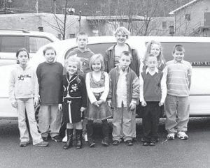 TOP FUND-RAISERS -  These students from Fleming-Neon Elementary School received a limousine ride and lunch for being the top sellers in a school-wide fund-raiser. The students are Lindsey Bentley, Cameron Wright, Skylar Griffith, Jacob Slone, Tyler Collins, Daniel Hall, Mike Webb, Selena Fleming, and Bryanna Dunbar.