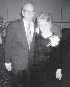 COMMUNITY LEADERS -  Ruby and Clifton Caudill were married in 1933. They served as leaders in the Carcassonne community for many years.