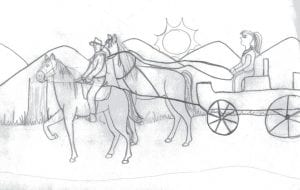 HORSE TRAIL LOGO -  This drawing by Letcher County Central High School student Morgan Eversole has been selected as the logo for the proposed Pioneer Horse Trail on Pine Mountain in Letcher County.