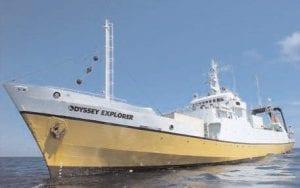 PHOTOS COURTESY OF ODYSSEY MARINE EXPLORATION INC. The Odyssey Explorer