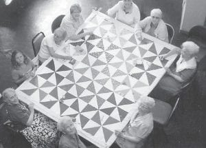 QUILTERS FROM THE ERMINE CENTER demonstrated their craft at the Seedtime Festival.
