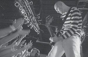 Smashing Pumpkins frontman Billy Corgan worked the crowd at the Orange Peel in Asheville, N.C., Saturday night. (AP)