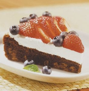 RED, WHITE and BLUEBERRY TORTE