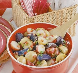 Red, White and 'Blue' Potato Salad