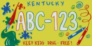 This specialty license plate, unveiled Monday, may be on sale in Kentucky by October.