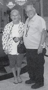 IRENE AND RAY HATTON are pictured in the lobby of the Horseshoe Casino Hotel in Bossier City, La.