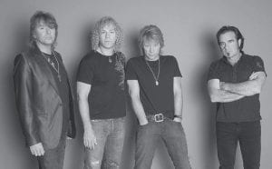 Bon Jovi, from left, Richie Sambora, David Bryan, Jon Bon Jovi and Tico Torres were photographed at Steiner Studio in the Brooklyn borough of New York on June 5, 2007. (AP Photo)