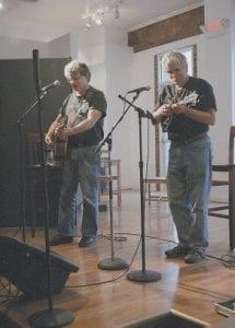 Si Kahn, left, with Rich Kirby. All photos by Joe Burke