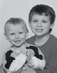 BROTHERS -  Austin Hunter, 6, and Skyler Nicholas Lewis, 2, are the sons of Brian and Requa (Fields) Lewis of North Vernon, Ind. They are the grandsons of Jerry and Judy Lewis of Gordon, Riki Fields of Henderson, and Johnny Fields of Viper. Their great-grandparents are Myrtle Lewis of Gordon, Ray and Frances Harrington of Bicknell, Ind., and Vauldra Holbrook of Mayking.