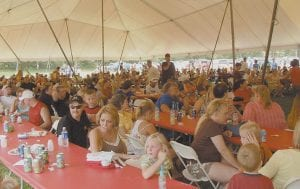 Sapphire Coal employees and their families were waiting near the end of a long and hot day to see if they won one of several door prizes given away. The employee appreciation day was held at the company's offices at Isom.