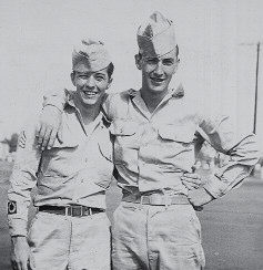ARMY BUDDIES -  Serving together in Manila during World War II were Bobby Haynes (left) and Harold Bryant.