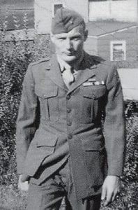 IN UNIFORM -  Posing in his uniform is Charles