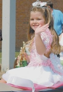 Brooklyn Bentley of Whitesburg was named most photogenic and overall most beautiful during a pageant held as part of the Jenkins Days Riverside Festival earlier this month.