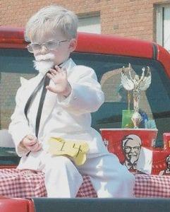 Landon Rose, dressed as Colonel Harlan Sanders, won LKLP's dressup contest.