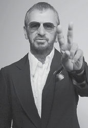 Musician Ringo Starr posed for this photo in Beverly Hills, Calif., in June. (AP Photo/Damian Dovarganes)