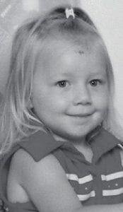 AUGUST BIRTHDAY -  Autumn Wampler turned three years old August 17. She is the daughter of Joshie and Vickie Wampler of Isom. Her grandparents are Randy and Kathy Banks of Isom, and Pearlie Bates and Josh Wampler of Thornton. She is the great-granddaughter of Faye Reed of Isom.