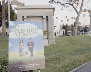 This was the scene at the Hollywood Forever Cemetery in Hollywood, Calif., where the network screened the first episode of its new drama