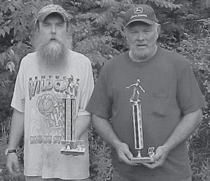 SECOND PLACE -  Finishing in second place at the Isom Day horseshoe tournament were Russell Reynolds and Eddie Thomas.