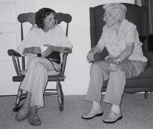 COUSINS -  Dorothy Fields of North Carolina, recently visited her cousin Ella Preston of Cowan.