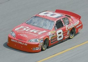 Dale Earnhardt Jr., who moves over to Rick Hendrick in 2008, is shown here in the No. 8 Chevy. (Getty Images)