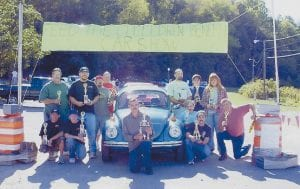 BEST IN SHOW -  The first Feed the Children benefit car show took place Sept. 16 in Whitesburg. The best in show trophy was won by the Volkswagen pictured. Other winners were: best tuner, first place Baby Boy, second C.J. Fields, third Jason Mercer; best mini-truck, Cody Fields; best muscle car, first Kevin Fields, second Eric Hall, third Billy Hall; best full-size truck and SUV, first Dustin Heron, second Squirelly, third Terry Sturgill. The car show raised $365 to benefit the Feed the Children Foundation, which will feed 46 children this month. Organizer Chris Baker says,