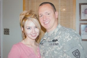 STILL NEWLYWEDS -  Cpl. Josh Webb of Payne Gap and his wife Casey were married just days before he was deployed to Iraq in September 2006. Josh Webb liked