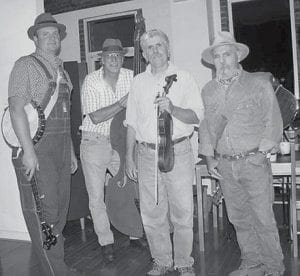 RICH AND THE POOR FOLKS will headline the music show at the Indian Summer Folk Festival in Jenkins. Pictured are (left to right) Shane Hall, Nate Polly, Rich Kirby, and Roy Tackett.