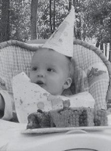 ONE YEAR OLD -  Andrew Collins celebrated his first birthday on Sept. 15. He is the son of Charlie and Belinda Collins of Corbin. His grandparents are William and Fala Collins of Whitesburg, and Lloyd and Sue Buttrey of Barbourville.