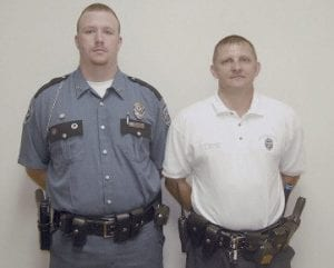 Whitesburg Officer Justin Gayheart (left) and Sergeant Mark Sexton have each performed CPR to save a life.