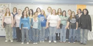 The Letcher County Central High School Choral Ensemble, directed by Jessica Sparks, will be performing in Somerset on October 27. Pictured are (back row from left) Lacey Little, Kristy Taylor, Tasha Howard, Kayla Slone, Briauna Halcomb, Brittany Combs, Auri Bolen, (front row from left) Kendra Sizemore, Rebecca Meade, Corntey Roberts, Karee Dixon, Olivia Trouxel, Tiffany Back, Ciarra Brock, Natasha Gibson, Sierra Caudill and Martha Frazier. Not pictured are Jason Boggs, Mika Collier, Nikki Wiseman and Jennifer Smith.