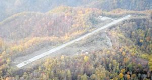 This photo of the old Whitesburg Municipal Airport at Colson was taken from the air recently by Brian Thompson and appears on the