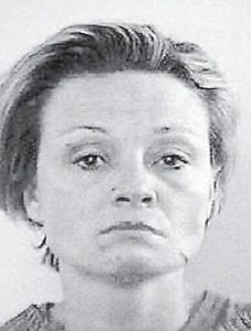 This photo of Sharon Collins was taken shortly after her arrest in Lexington. She told authorities that some of the injuries to her face were caused by David Hogg assaulting her with a key.