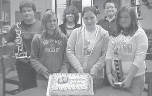 WINNING TEAM -  The Letcher Middle School academic team won firsst in overall, first in quick recall, and first in future problem solving in the county tournament. The members are Andi Fields, Chase Smith, Brandon Adams, Ashli Sexton, Erica Meade, Alex Fickey, Kathleen Lloyd, Josh Stamper, and Kristen Blair.