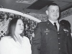 NEWLYWEDS -  Jennifer Hatton and Neal Eldridge were married on Christmas Eve in Ashland. He is a sergeant in the National Guard and will be going to Afghanistan in February.