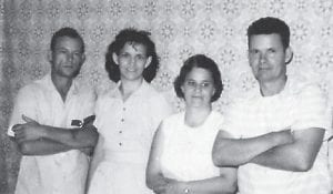 HATTON BROTHERS -  Pictured are the late Bill Hatton and his wife, Juanita, and Baker Hatton and his wife, Silar. They are two sons of the late Ike and Lily Mullins Hatton.