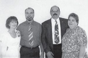FAMILY PORTRAIT -  These are the children of Anna Watkins of Florida, formerly from Marlowe. Pictured are (left to right) Janie, Wayne, Ben and Paula. Oma Hatton says,