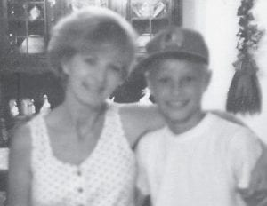 MOTHER AND SON -  Pictured are Anna Watkins's daughter, Janie, and her son, who was killed in a car accident in 1992. Oma Hatton said,