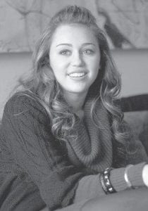 Miley Cyrus, pop princess and star of the Disney Channel's