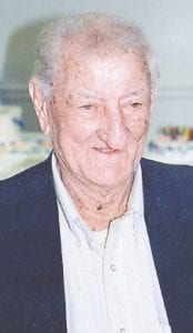 BIRTHDAY -  Bill Gibson of Isom, will celebrate his 104th birthday on January 18. Friends and family are invited to attend a birthday celebration from 4 to 6 p.m., January 19, at Blair Branch Old Regular Baptist Church.