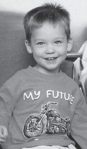 THREE YEARS OLD -  Seth Douglas Burke is turning three years old on Thursday, Jan. 31. He is the son of Doug and Debbie Burke of Little Colley, and the grandson of the Rev. Conard and Carolyn Profitt of Isom, Ray Burke of Neon, and Carol Damron of McRoberts. He is a great-grandson of Ruby Brandon of McRoberts.