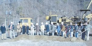 GROUNDBREAKING -  Among those participating in the groundbreaking of the new Letcher County Health Department were Travis Curry, project manager for Codell Construction, Dr. William Collins, Dr. Debbie Williams, Eleanor Caudill, Letcher County Health Department Director Lana Mullins, Ernest Watts, Dr. David Narramore, Whitesburg Mayor James W. Craft, Letcher County Judge/Executive Jim Ward, State Sen. Johnny Ray Turner, State Rep. Leslie A. Combs, Magistrate Codell Gibson, Heather Burton, Glenda Helton, Magistrate Keith Adams, Magistrate Bob Lewis and Magistrate Archie Banks.