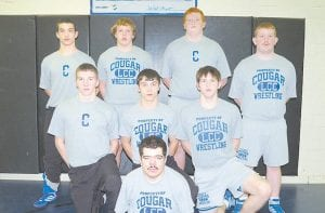 SENIOR WRESTLERS -  Letcher County Central High School recently honored the senior class members of its wrestling team during