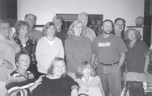 CLASS REUNION -  A mini-reunion of the Whitesburg High School Class of 1969 was held recently at the home of Jane Cox (formerly Jane Cox Wobbe), Class of '69, and James Kenneth Caudill, WHS Class of '67, in Louisville. Attending the reunion were (front row, left to right) Vanessa Campbell, Jane Cox, Paula Collins, (second row) Donna Potter, Kathleen Watts, Linda Ison, Jeanie Price, Joe Hunsucker, Diana Caudill Grace (Class of '70), (third row) Jay Fields, Danny Mohn, Ralph Coldiron, and Roy Crawford III. Those interested in future get-togethers should contact Jane Cox, 2112 Lauderdale Road, Louisville, KY 40205, (502) 458-5755, janiecox69@aol.com.