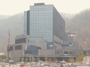 FLETCHER'S NEW PLACE OF WORK -  Former Gov. Ernie Fletcher now works at the Pikeville Medical Center in Pikeville. He was hired after his administration approved a rare, $3.4 million Medicaid claim filed by the hospital. (Photo by Chris Anderson)