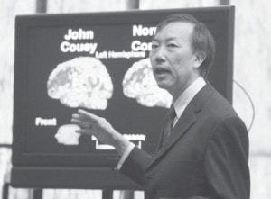 Dr. Joseph Wu testified during the penalty phase of John Couey's trial in Miami in this March 2007 photo. In recent years, brain scans such as these have emerged as a potentially powerful tool in battles over the sanity of crime suspects. (AP Photo)