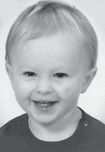 THREE YEARS OLD -  Kyle Banks Galer turned three years old on Feb. 18. He is the son of Tyler and Amanda Galer of Ludlow. He is the grandson of Glenn and Sue Banks of Cowan, Fred Galer of Inez, and Sybil Galer of Findley, Ohio.
