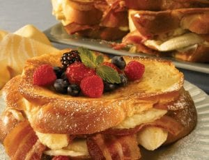 Banana and Bacon Stuffed French Toast